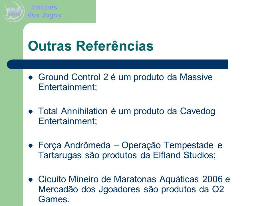 Outras Referências Ground Control 2 é um produto da Massive Entertainment; Total Annihilation é um produto da Cavedog Entertainment;