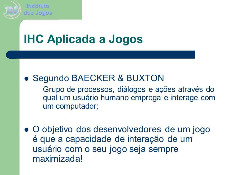 IHC Aplicada a Jogos Segundo BAECKER & BUXTON