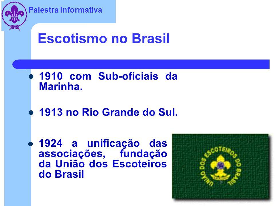 Escotismo no Brasil 1910 com Sub-oficiais da Marinha.