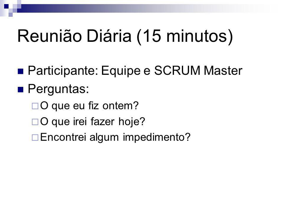 Reunião Diária (15 minutos)