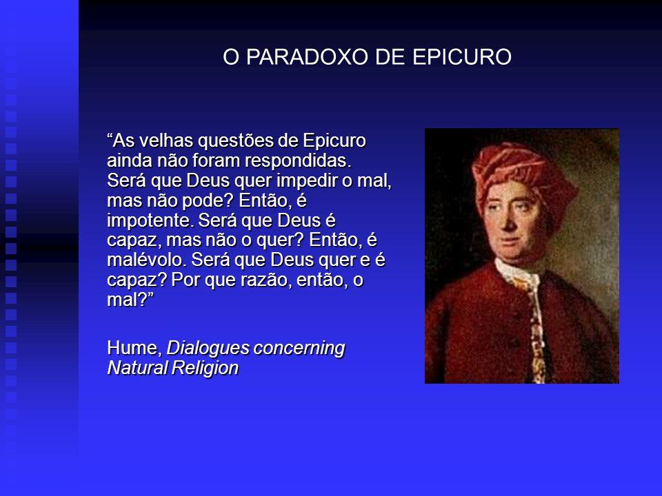 O PARADOXO DE EPICURO
