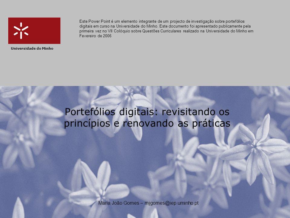 Maria João Gomes – mjgomes@iep.uminho.pt