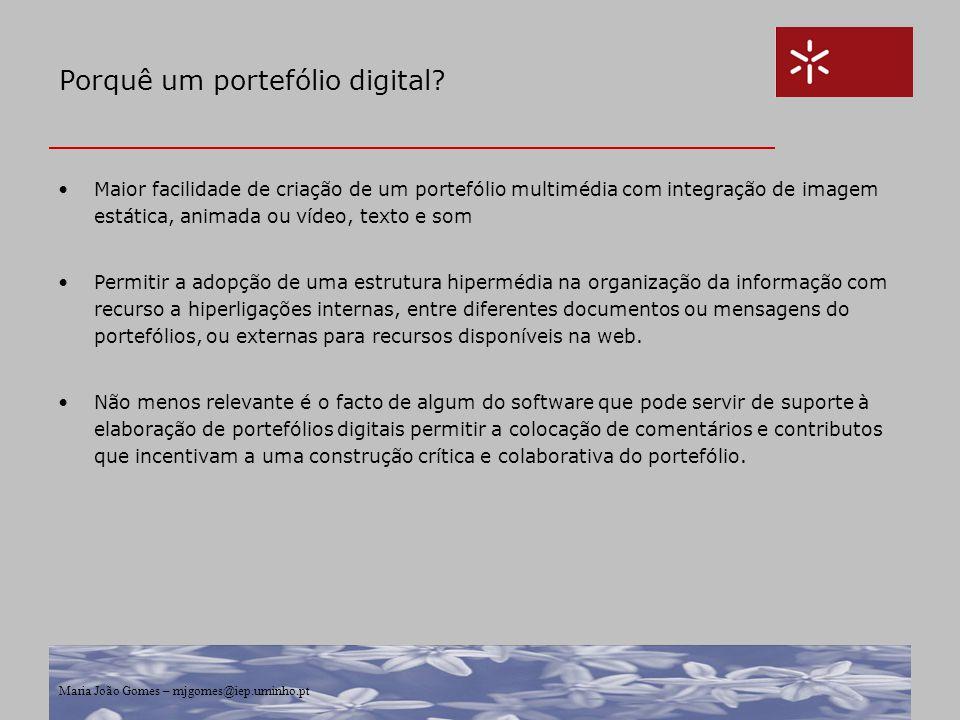 Porquê um portefólio digital