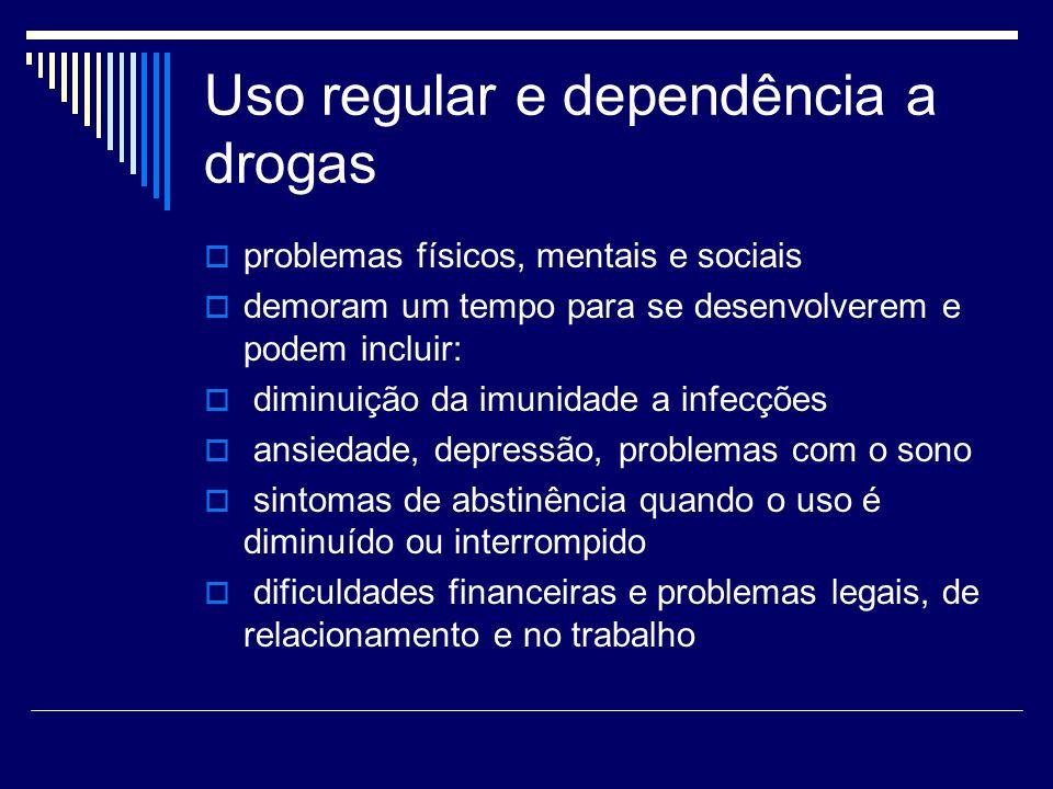 Uso regular e dependência a drogas