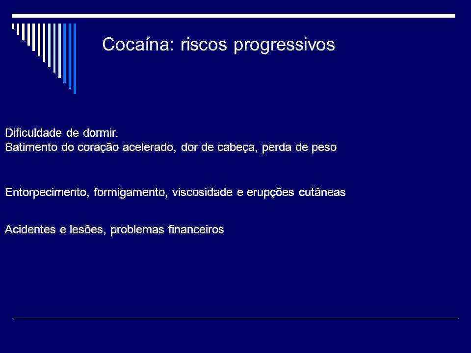 Cocaína: riscos progressivos