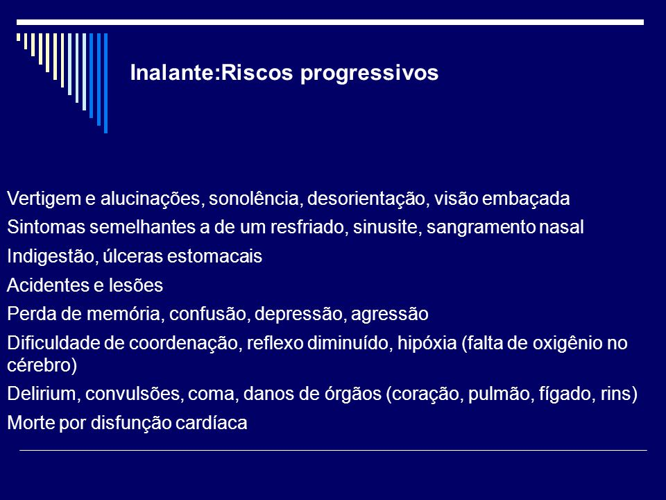 Inalante:Riscos progressivos