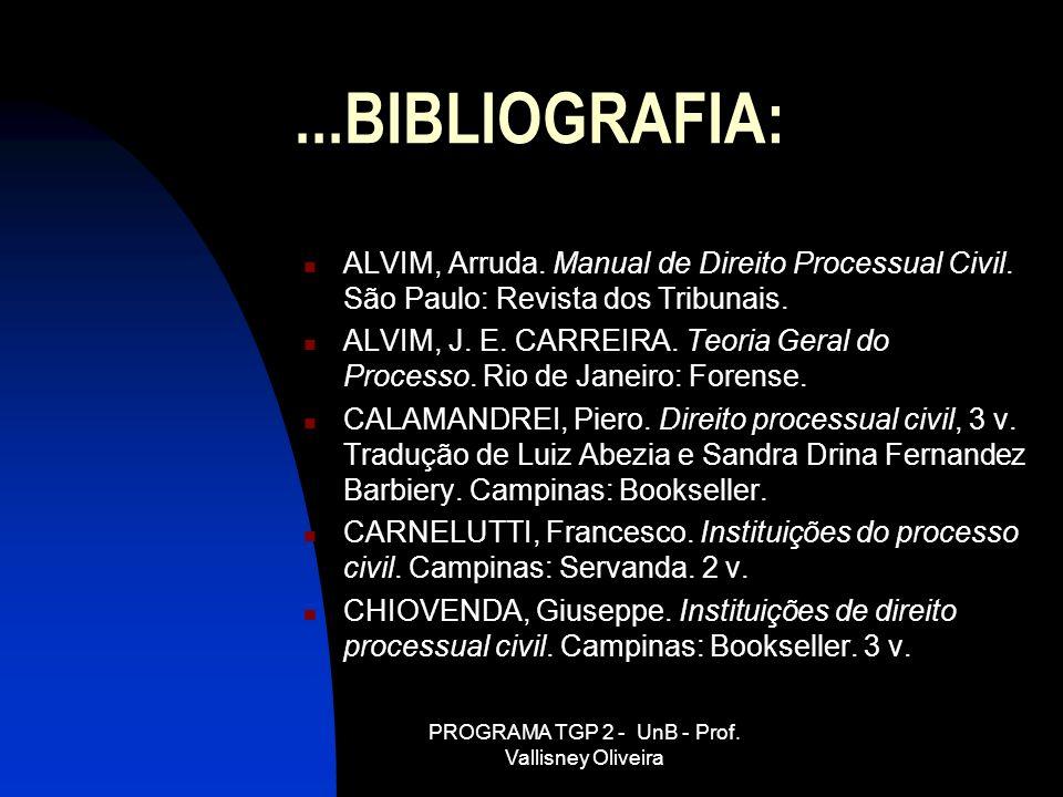 PROGRAMA TGP 2 - UnB - Prof. Vallisney Oliveira