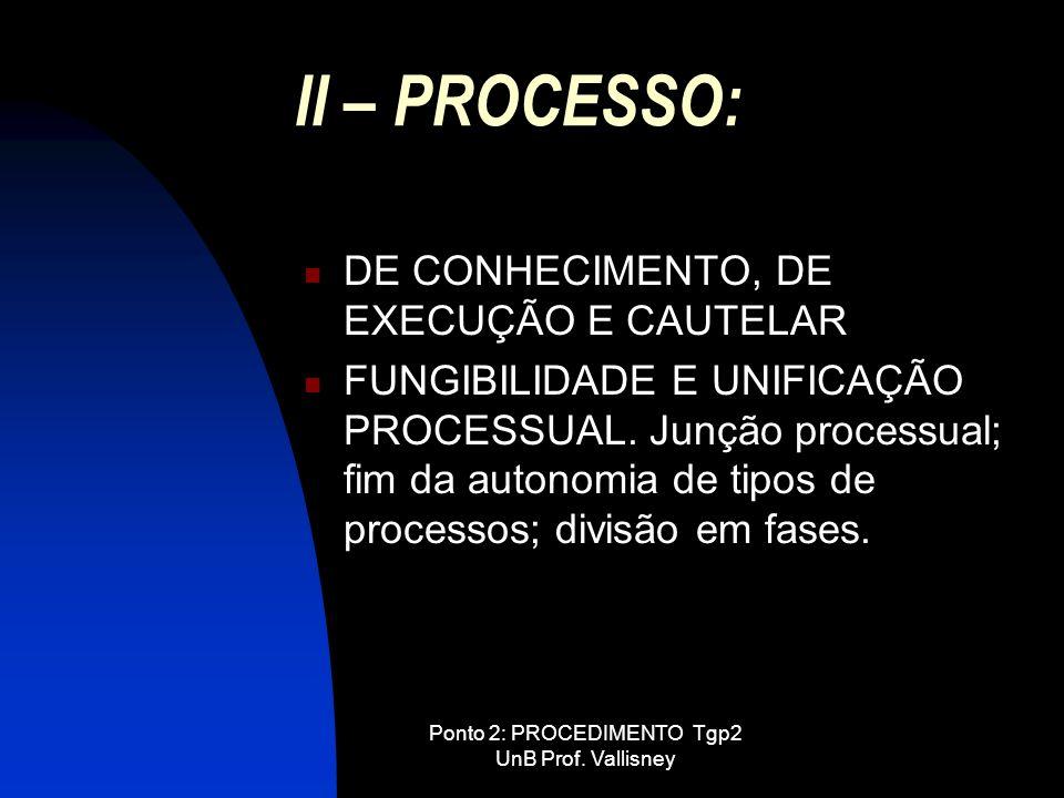 Ponto 2: PROCEDIMENTO Tgp2 UnB Prof. Vallisney