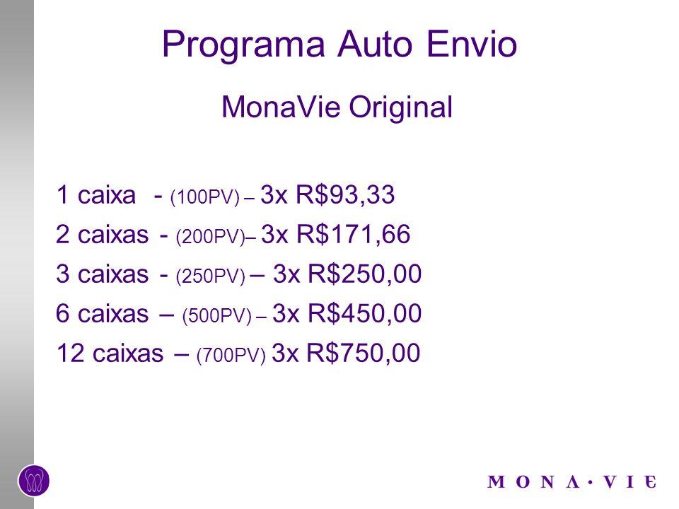 Programa Auto Envio MonaVie Original 1 caixa - (100PV) – 3x R$93,33