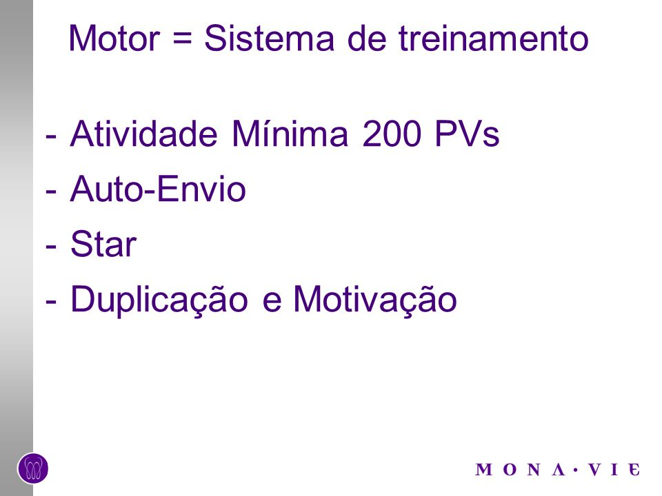 Motor = Sistema de treinamento