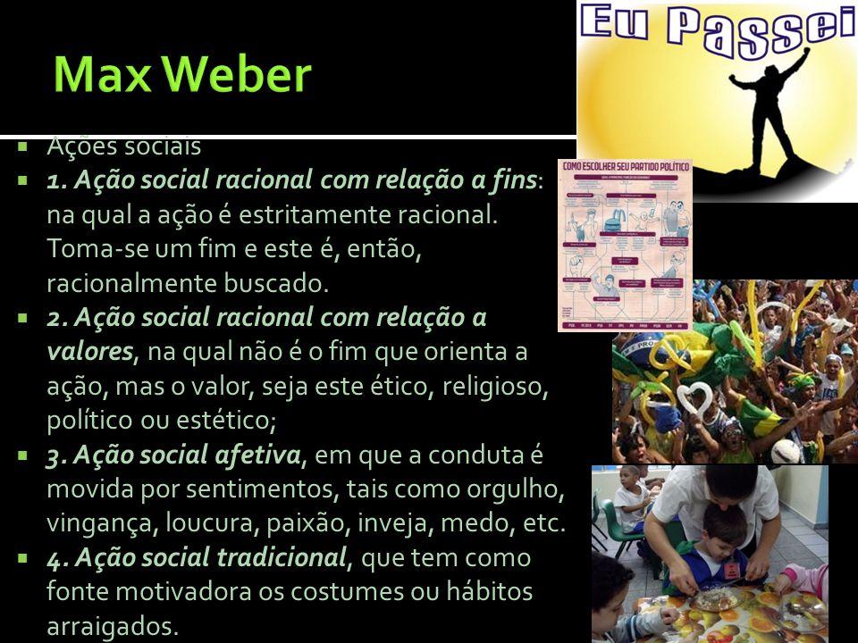 Max Weber Ações sociais