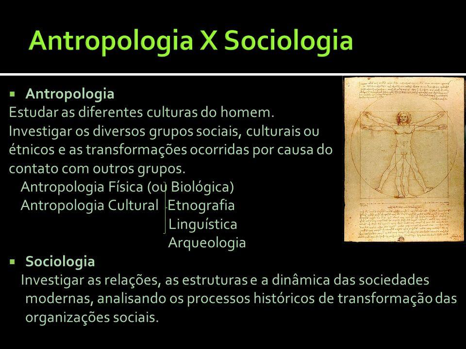 Antropologia X Sociologia