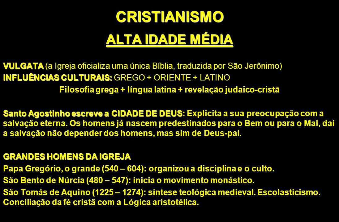 Filosofia grega + língua latina + revelação judaico-cristã