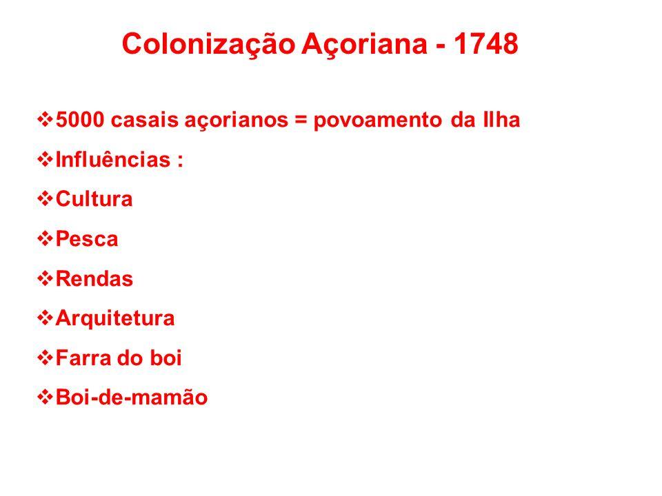Colonização Açoriana - 1748