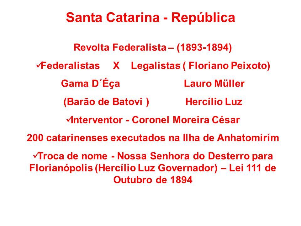 Santa Catarina - República