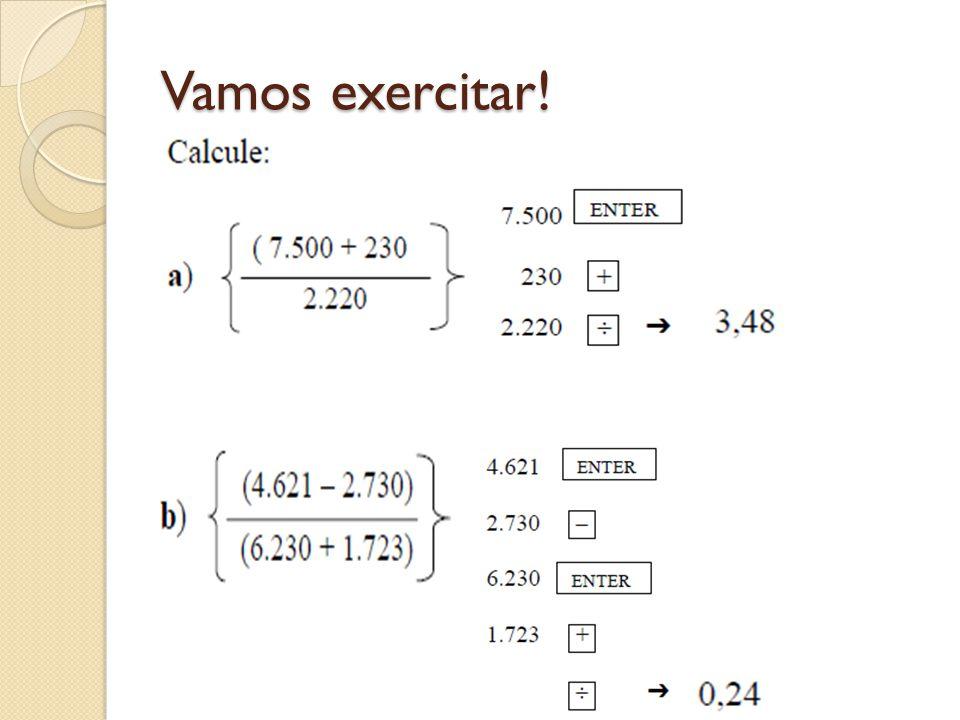 Vamos exercitar!
