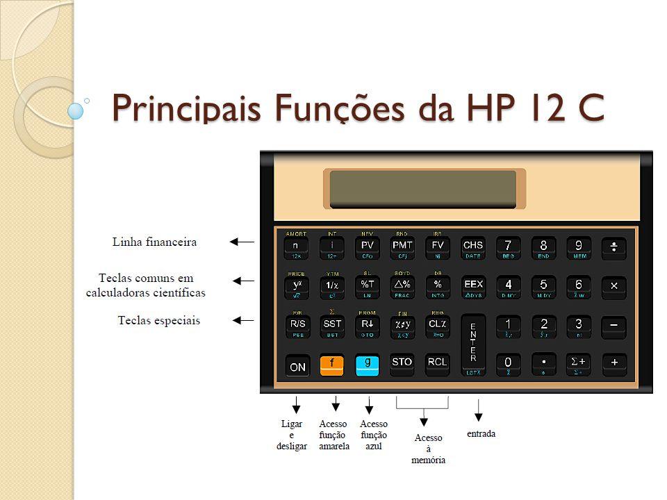 Principais Funções da HP 12 C