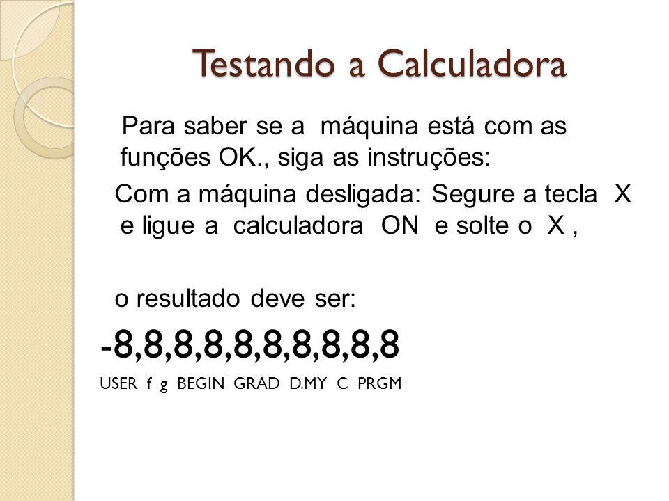Testando a Calculadora