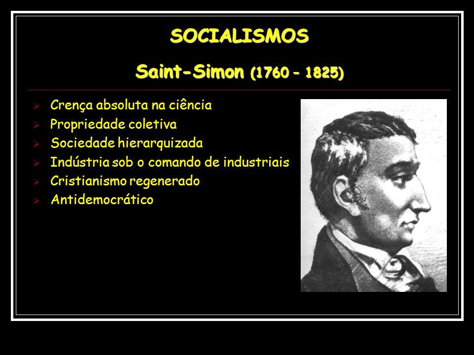 SOCIALISMOS Saint-Simon (1760 – 1825)