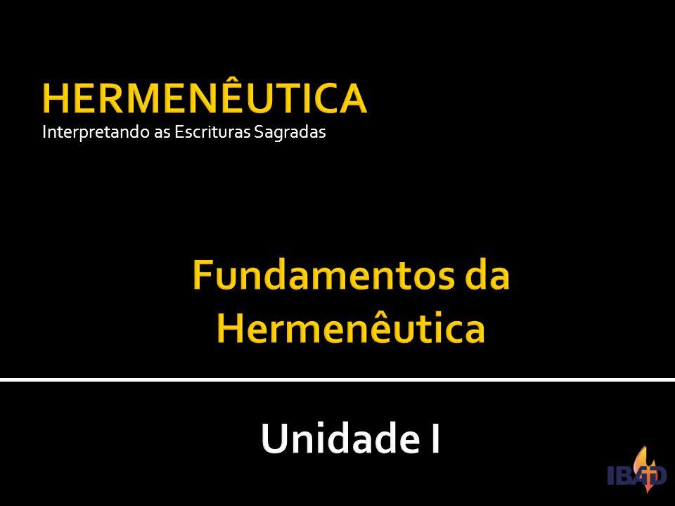 Fundamentos da Hermenêutica