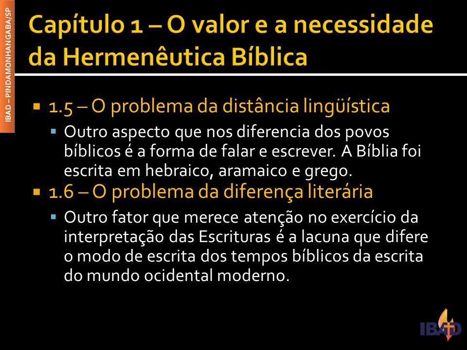 Capítulo 1 – O valor e a necessidade da Hermenêutica Bíblica