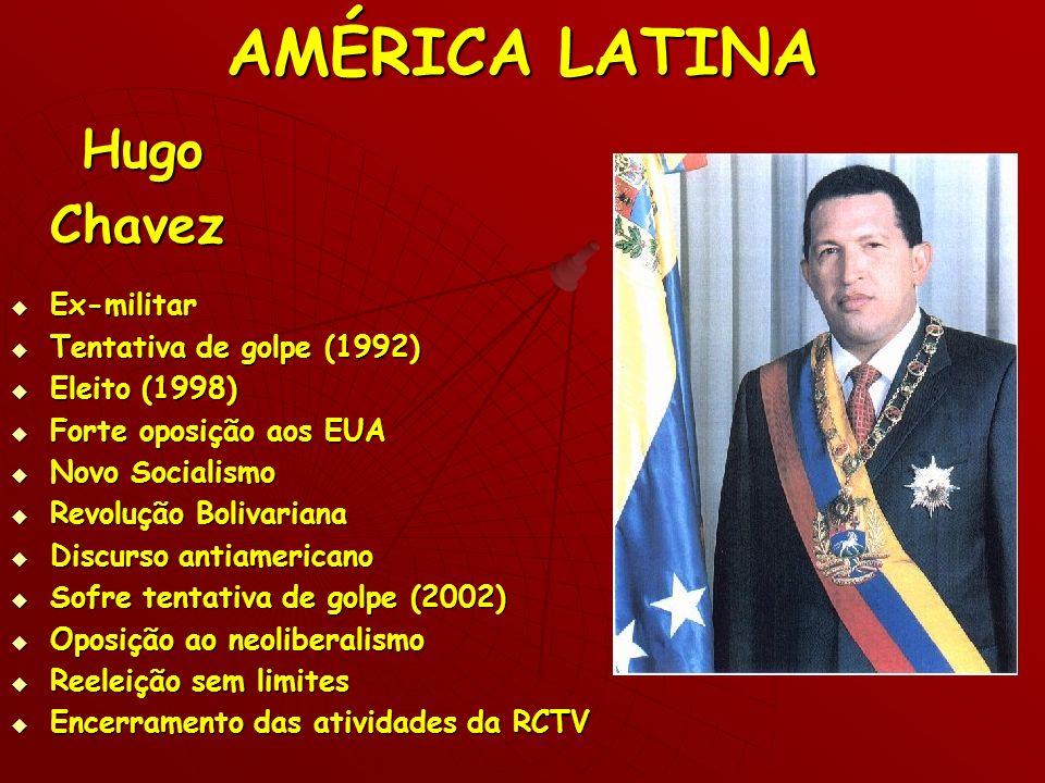 AMÉRICA LATINA Hugo Chavez Ex-militar Tentativa de golpe (1992)