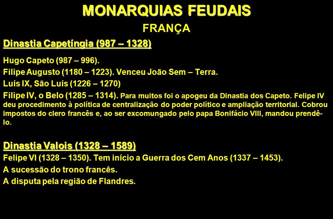 MONARQUIAS FEUDAIS FRANÇA Dinastia Capetíngia (987 – 1328)