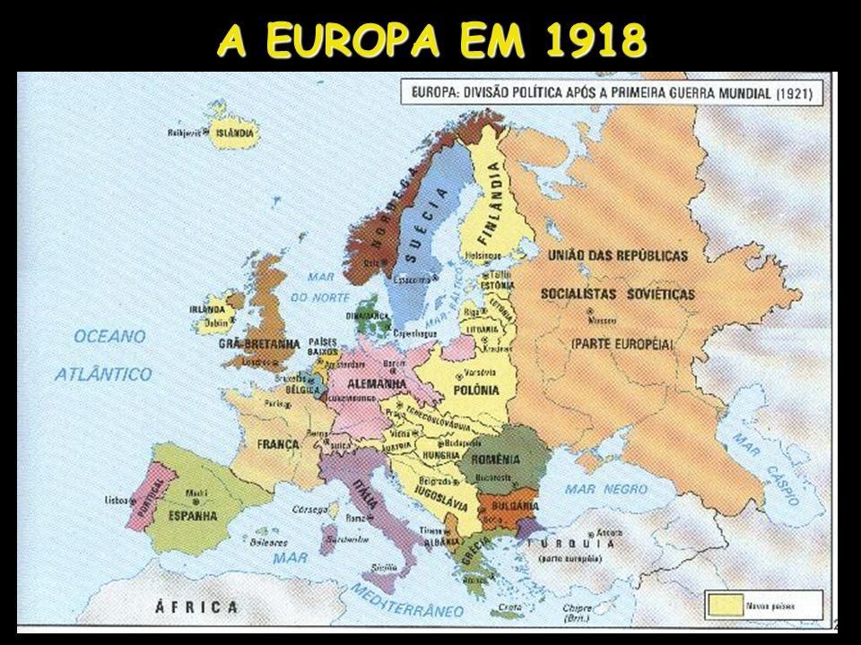 A EUROPA EM 1918