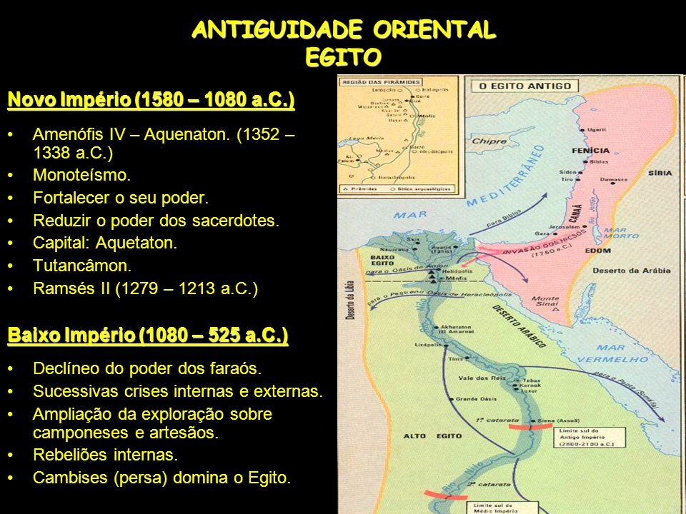 ANTIGUIDADE ORIENTAL EGITO