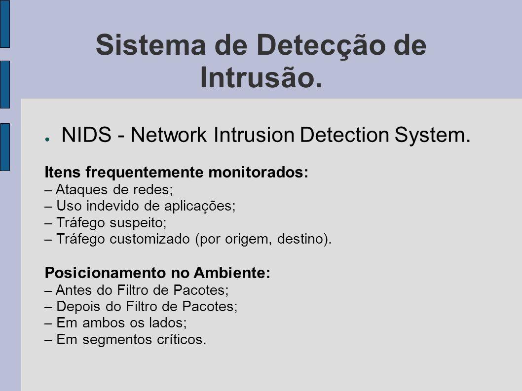 Sistema de Detecção de Intrusão.