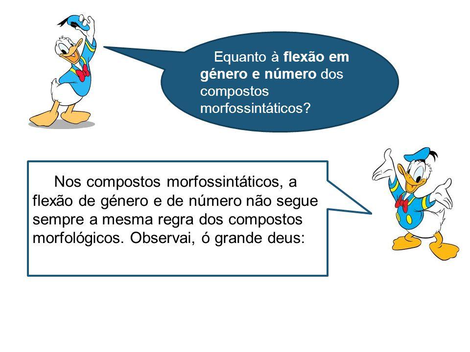Equanto à flexão em género e número dos compostos morfossintáticos