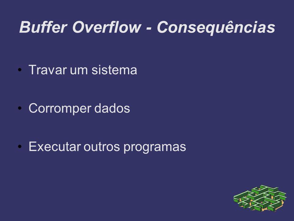 Buffer Overflow - Consequências