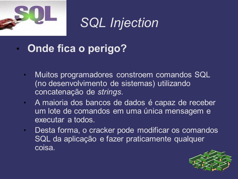 SQL Injection Onde fica o perigo
