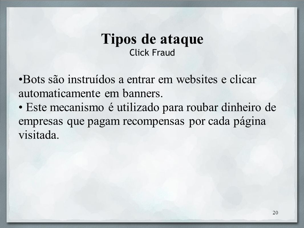 Tipos de ataque Click Fraud