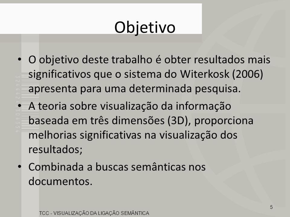 TCC - VISUALIZAÇÃO DA LIGAÇÃO SEMÂNTICA