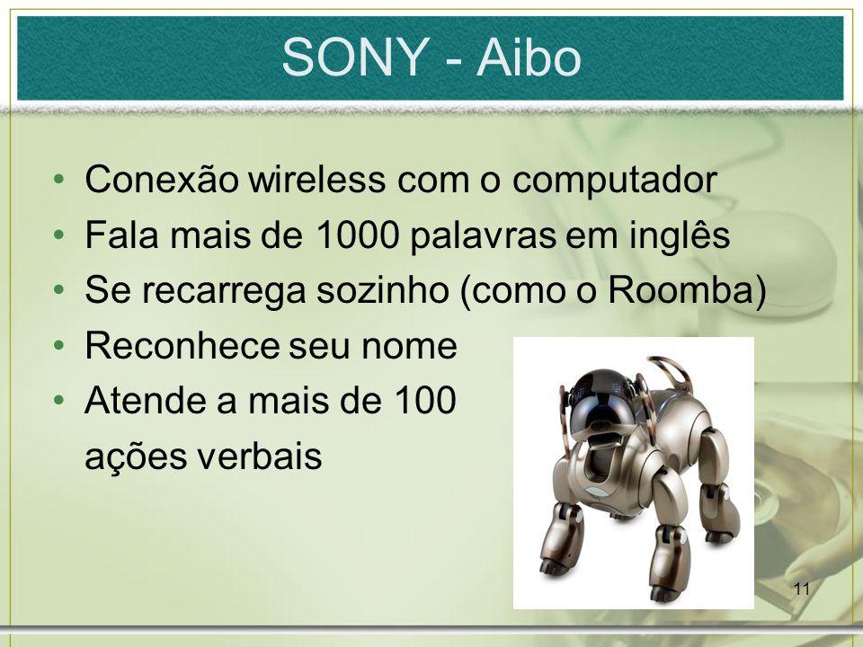 SONY - Aibo Conexão wireless com o computador