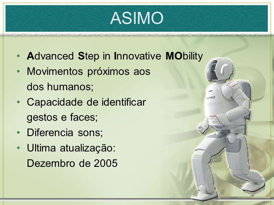 ASIMO Advanced Step in Innovative MObility Movimentos próximos aos