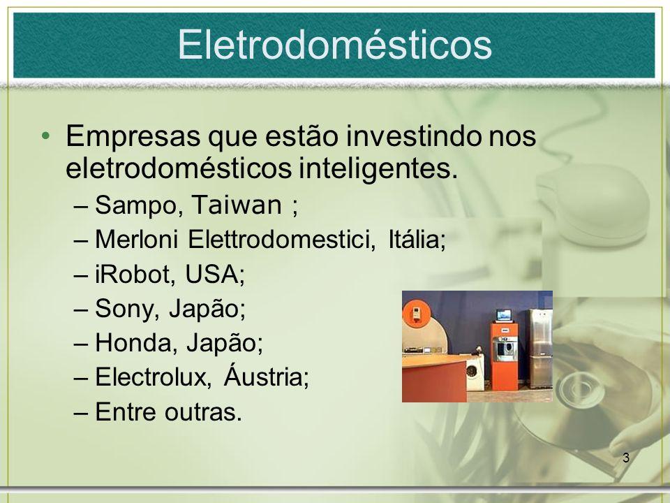 Eletrodomésticos Empresas que estão investindo nos eletrodomésticos inteligentes. Sampo, Taiwan ; Merloni Elettrodomestici, Itália;