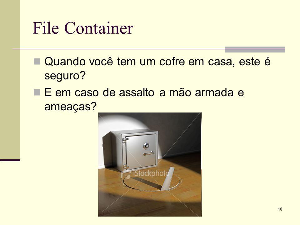 File Container Quando você tem um cofre em casa, este é seguro