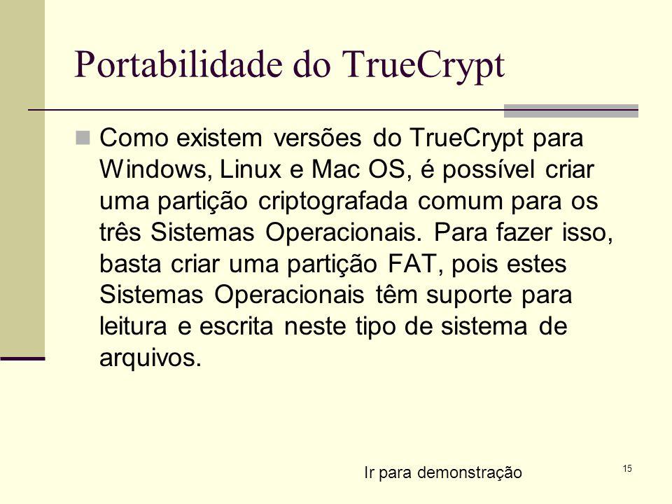 Portabilidade do TrueCrypt