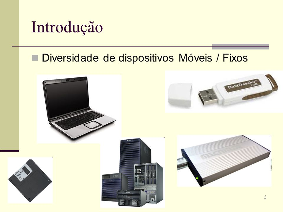 Introdução Diversidade de dispositivos Móveis / Fixos