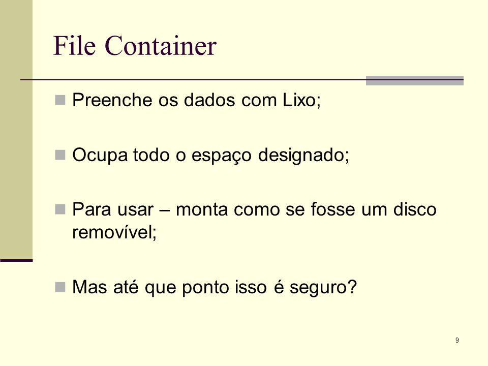 File Container Preenche os dados com Lixo;