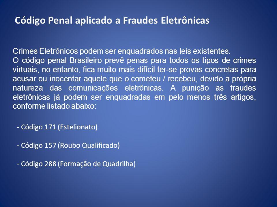 Código Penal aplicado a Fraudes Eletrônicas