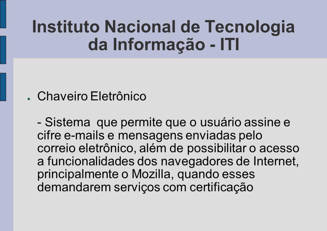 Instituto Nacional de Tecnologia da Informação - ITI