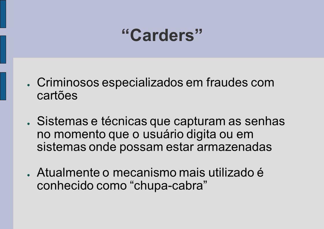 Carders Criminosos especializados em fraudes com cartões