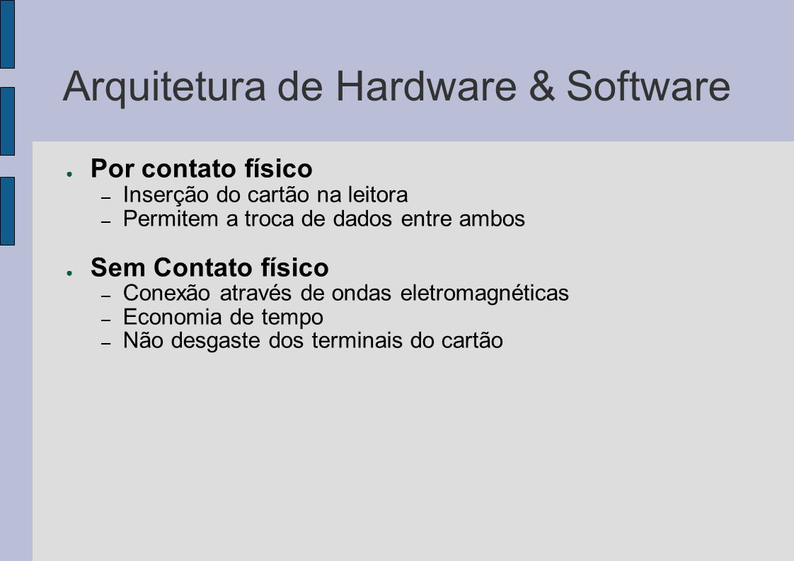 Arquitetura de Hardware & Software