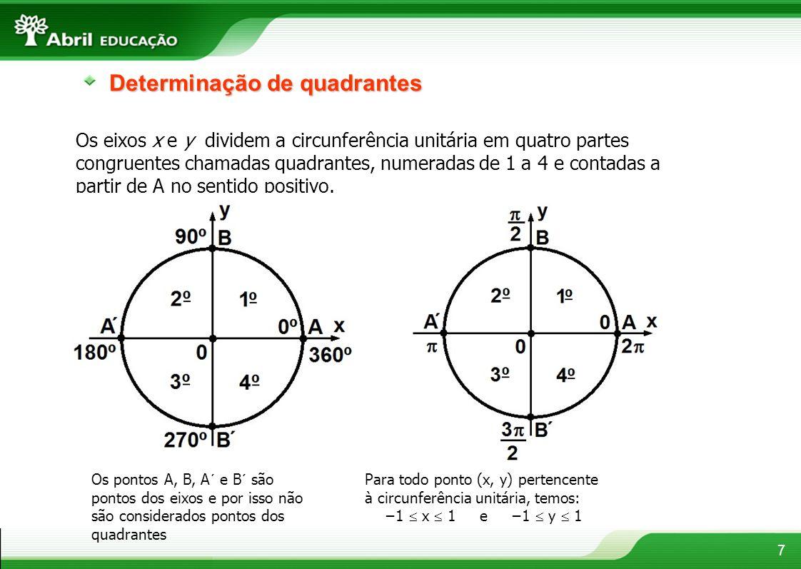 Determinação de quadrantes