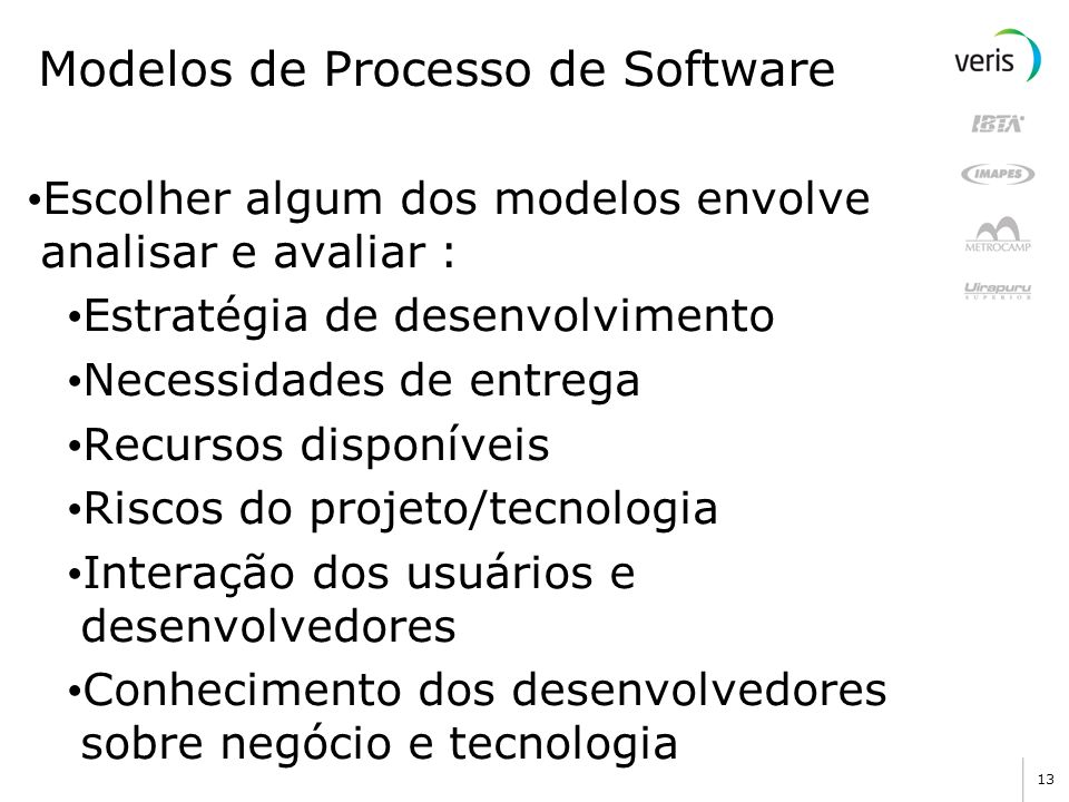 Modelos de Processo de Software