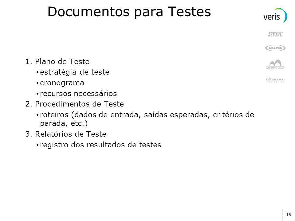 Documentos para Testes