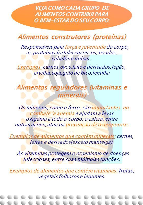 Alimentos construtores (proteínas)